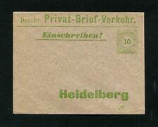 Privatpost Heidelberg, Rare Stationery (#5357)