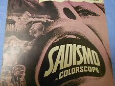 Sadismo (1967) PRESSBOOK See The Rack Thumb Screw Iron Maiden/Torture Drugs