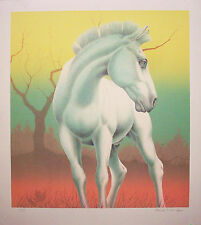 "Mark Van Epps ""Pale Horse"" Hand Drawn Original Fine Art Lithograph"