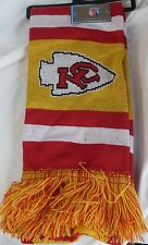 "NWT NFL 2012 TEAM STRIPE ACRYLIC SCARF 64""x7"" - KANSAS CITY CHIEFS"