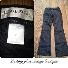 Vintage Hugo Buscati Black Leather Pants Sz 2