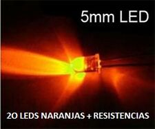 20 LED AZUL 5MM 10000MC + RESISTENCIAS NARANJA ROJO AMARILLO  KITS A ESCOGER