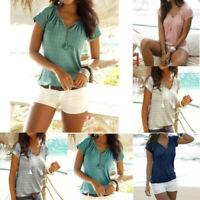 Women Fashion Boho Feminino Bohemian Print Top Beach Style Summer Holiday Blouse