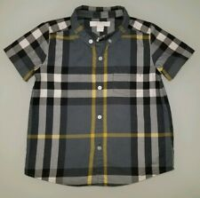 LNC Authentic Burberry Boys Plaid Shirt 3Y Perfect Condition!
