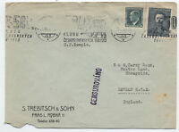 1938 Czechoslovakia cover to London Sep. 21 [y1829]