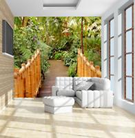 3D Wall Murals Wallpaper Botanical Bamboo Bridge Photo Painting Bedroom Decor