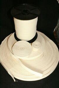 Natural 100% Cotton Tape Bunting Apron Herringbone Twill Webbing Sewing Strap