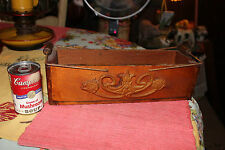 Lovely Victorian Style Wood Cheese Box W/Metal Handles-Superb Scroll Work-LQQK