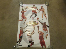 "Michael Jordan NBA Finals 1998 Chicago Bulls Team Poster 23 x 35"""