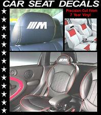 BMW M3 Seggiolino per auto decalcomanie / testa riposo in Vinile Adesivi / GRAFICA set x 6 L@@K