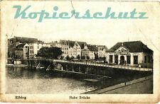 AK Elbląg (Elbing) Westpr., Hohe Brücke, 14/12