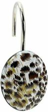 Carnation Home Fashions Cheetah Set Of 12 Shower Curtain Hooks Hand Crafted