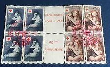 France Intérieur De Carnet 1954 N° 1006/7 Obli Croix Rouge TTB Cote 106€