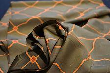 Japanese Silk Fabric Gold Base with Orange Design 1039r