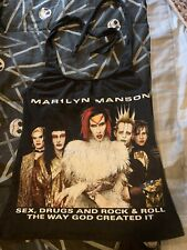 Marilyn Manson Vintage 1999 Rock Is Dead Tour Altered Women's Diy Halter Top M