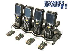 LOT OF 4 Symbol MC9090-GF0HBEGA2WR 1D Laser CE 5 Barcode Scanner & Charging Dock