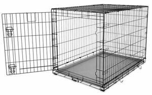 "1-Door Folding Dog Cage, 48"" L x 30"" W x 30"" H"