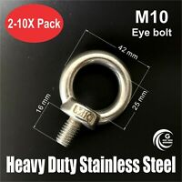 5PCS Stainless Steel Machinery Shoulder Lifting Eye Bolt M5 M6 M8 M10 M12B$CECC