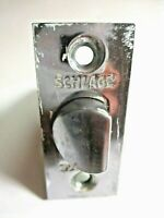 "Schlage 1960 Chrome Door Latch 2-3/8"" Setback For Cylindrical Lock Set 1 Vintage"