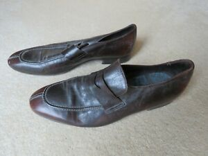 Men's Paul Smith Brown Leather Slip On Shoes - UK Size 9 - VGC