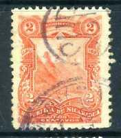 Nicaragua 1893 Seebeck Issues 2¢ Arms VFU U359 ⭐⭐⭐⭐⭐⭐