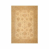 8'11'' x 11'6'' Hand Knotted 100% Wool Peshawar Oushak Oriental Area Rug Beige