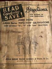 John Deere Ab200 Seties Two-Row Cultivators For Models A, B, & Gm Tractors