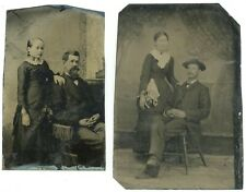 2 Tintypes, Portraits of Couples