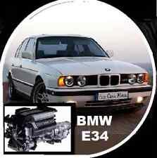 BMW E34 520i 525i 530i 535i 540i 1989-1995 electrical and workshop repair CDROM