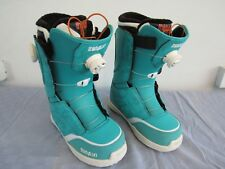 ThirtyTwo BOA Women's Teal Snowboard Boots Size 7.5 Intuition Liner