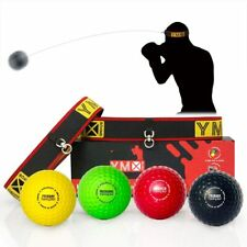 Ymx Boxing Ultimate Reflex Ball Set - 4 React Reflex Ball Plus 2 Adjustable Head