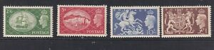 GREAT BRITAIN 1951 Festival High Values SG 509-512 MM