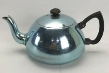 Vintage Towerbrite Teapot Anodised Blue lid Shabby Decorative Tea Pot Aluminium