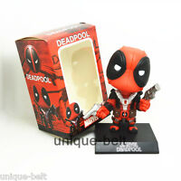 New in Box Deadpool X Men Superhero Wade Wilson Action Figure Toy Bobble Head