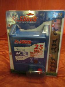 Fi-Shock 25-Miles 1-Joule Output Electric Low Impedance Fence Controller AC