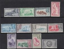 BARBADOS 1950 KGVI DEFINITIVE SET MINT, MOST LIGHTLY HINGED