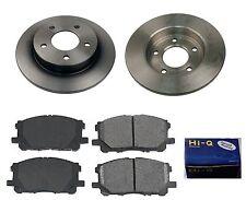 Rear Ceramic Brake Pad Set & Rotor Kit for 2008-2010 Mazda 3 GS-GX-I