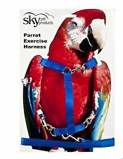 Parrot Exercise Harness Small Blue - Cockatiels, Senegals, Conures - 4929
