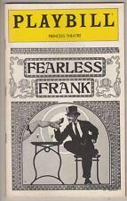 """""""Fearless Frank""""  FLOP Playbill 1980 Niall Toibin"""