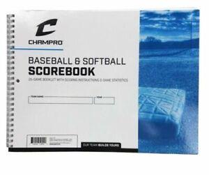 Champro Baseball & Softball Scorebook