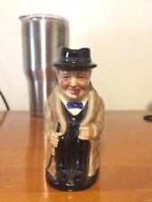 "Vtg Royal Doulton Winston Churchill Mini 5"" Head Vase Mug Cup England Toby Jug"