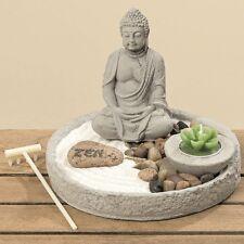 Buddha mit Schale Tisch Dekoration Teelicht Stein Zen Garten  Feng Shui 8110300