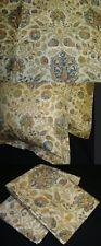 2 Two King Sham Pillow Cover New Ralph Lauren MARRAKESH PAISLEY BEIGE FABRIC
