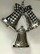 Holiday Time Christmas Silver Bells Wall Hanging
