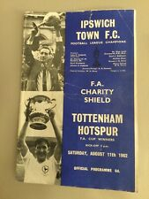 More details for 1962/3 f a charity shield ipswich town tottenham hotspur spurs 11th august 1962