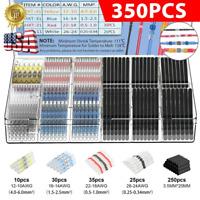 350PCS Waterproof Heat Shrink Butt Terminals Solder Seal Sleeve Wire Connectors