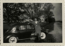 PHOTO ANCIENNE - VINTAGE SNAPSHOT - VOITURE AUTOMOBILE RENAULT 4 CV - CAR