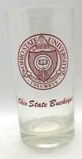 "Ohio State University Columbus Ohio State BUCKEYES Glass with Crest 5.5"" tall"