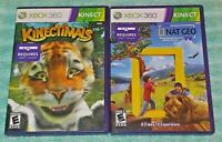 Nat Geo America Wild & Kinectimals  XBOX 360 2 Game Lot Requires Kinect Sensor