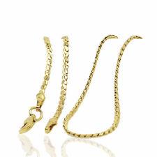18 k Placcato Oro Catena Serpente Collana Lady per le donne catena 1 mm di larghezza N423